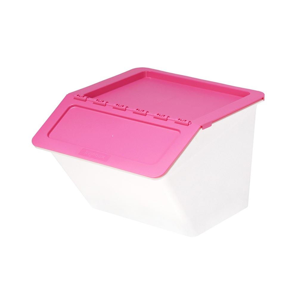 Livinbox Big Pelican Stackable Storage Bins Pink Singapore Baby