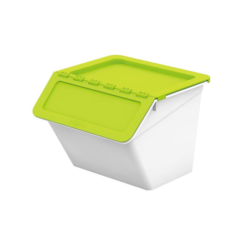 Livinbox Middle Pelican Stackable Storage Bins - Green ...