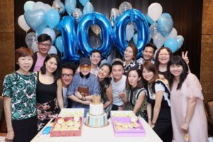 Baby Qi 100th day with family and friends